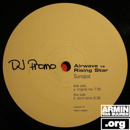 ARMIN VAN BUUREN as RISING STAR vs. AIRWAVE Sunspot - single (2002)
